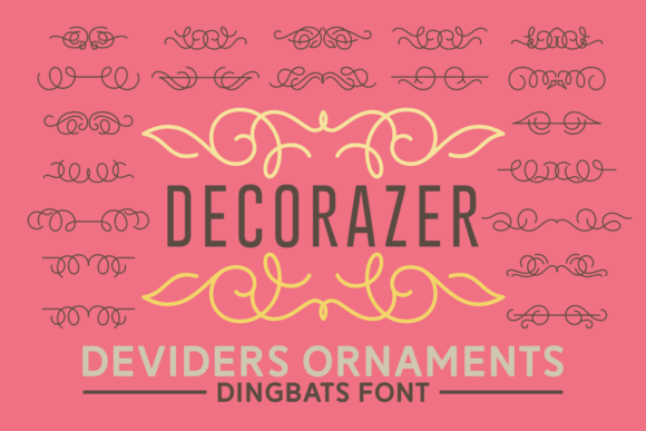 Print on Demand: Decorazer Dingbats Font By Keithzo (7NTypes)