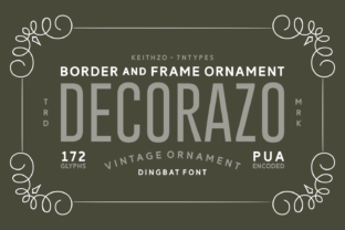 Decorazo Font By Keithzo (7NTypes)