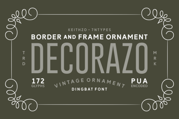 Print on Demand: Decorazo Dingbats Font By Keithzo (7NTypes)