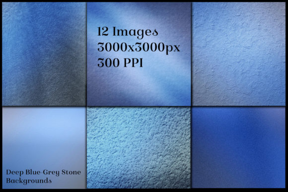 Print on Demand: Deep Blue-Grey Stone Backgrounds Graphic Backgrounds By SapphireXDesigns - Image 2