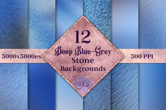 Print on Demand: Deep Blue-Grey Stone Backgrounds Graphic Backgrounds By SapphireXDesigns - Image 1