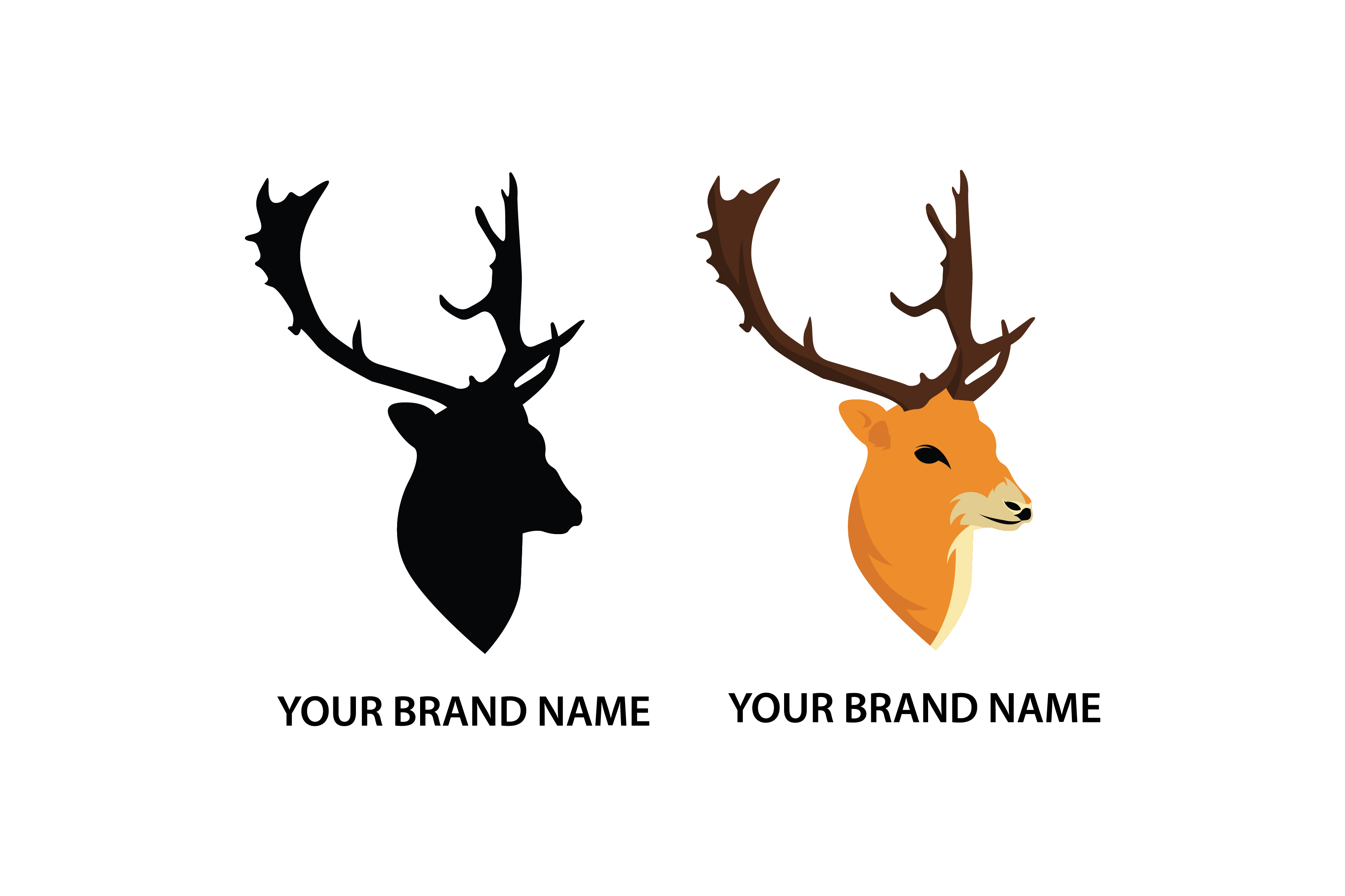 Download Free Deer Logo Template Graphic By Nirmala Graphics Creative Fabrica for Cricut Explore, Silhouette and other cutting machines.