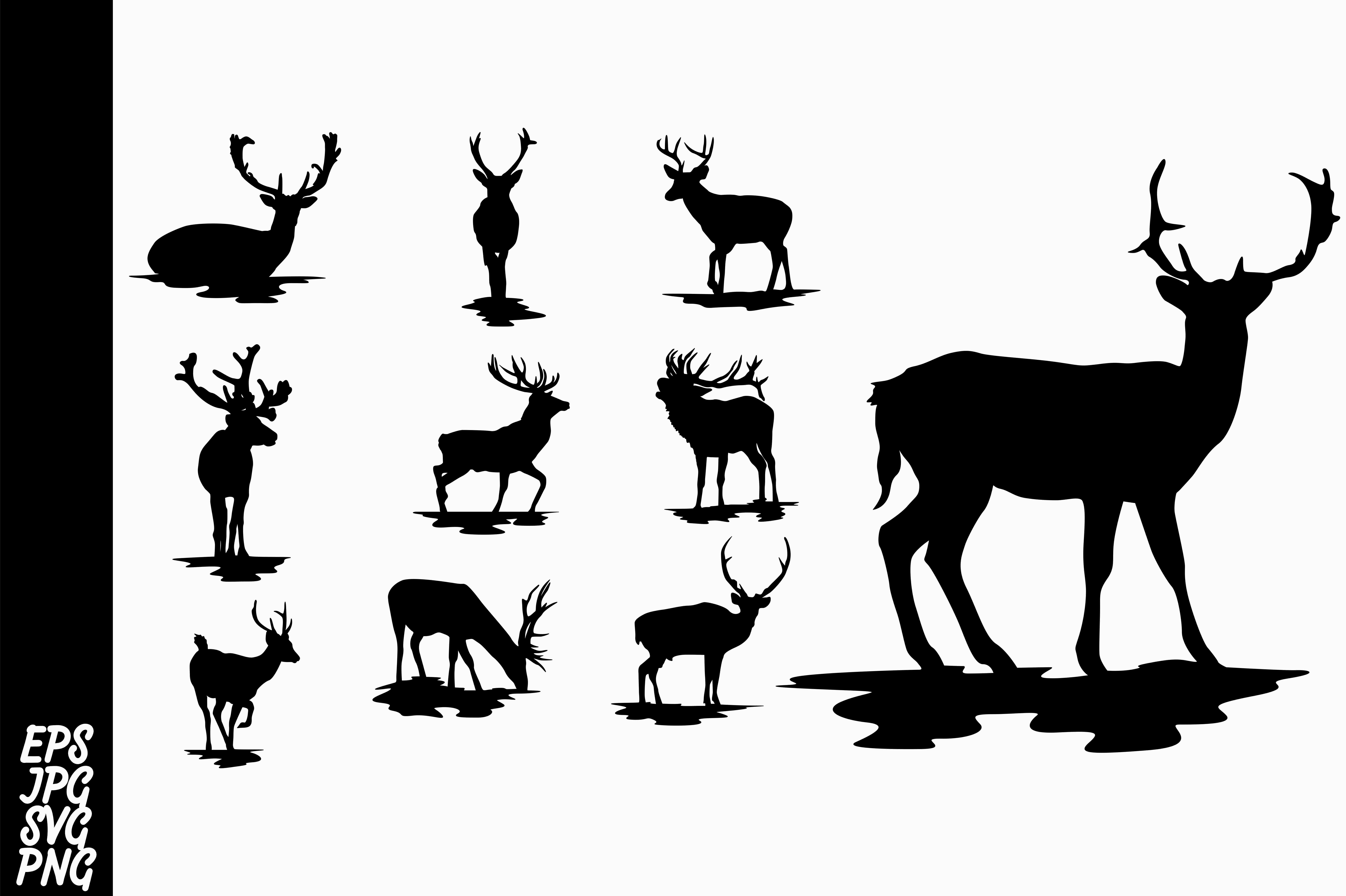 Download Free Deer Silhouette Svg Bundle Graphic By Arief Sapta Adjie Ii for Cricut Explore, Silhouette and other cutting machines.
