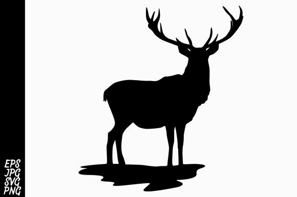 Download Free Deer Silhouette Svg Graphic By Arief Sapta Adjie Creative Fabrica for Cricut Explore, Silhouette and other cutting machines.