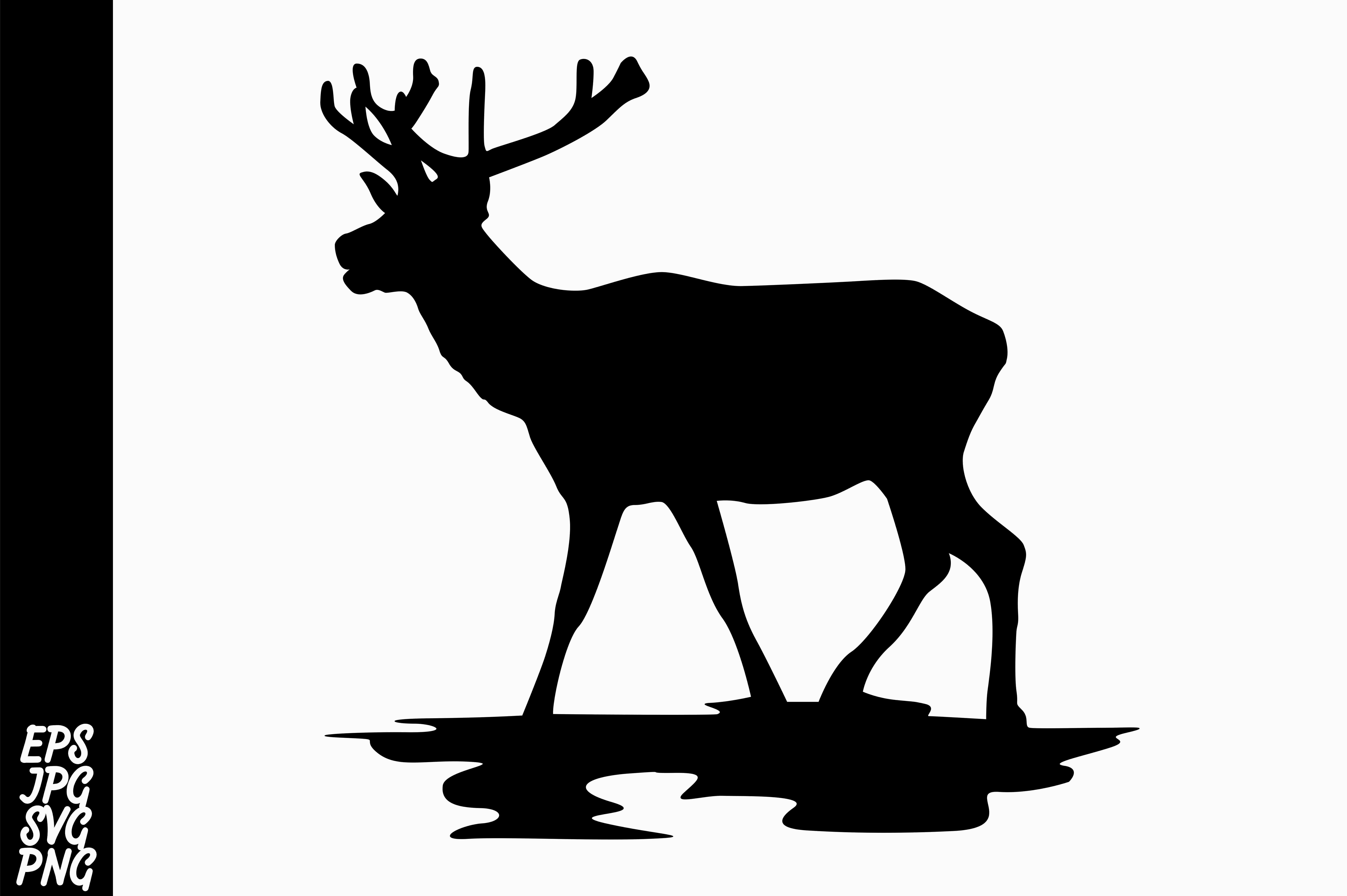 Download Free Deer Silhouette Graphic By Arief Sapta Adjie Creative Fabrica SVG Cut Files