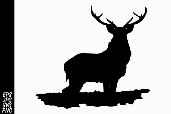 Download Free Deer Silhouette Graphic By Arief Sapta Adjie Creative Fabrica for Cricut Explore, Silhouette and other cutting machines.
