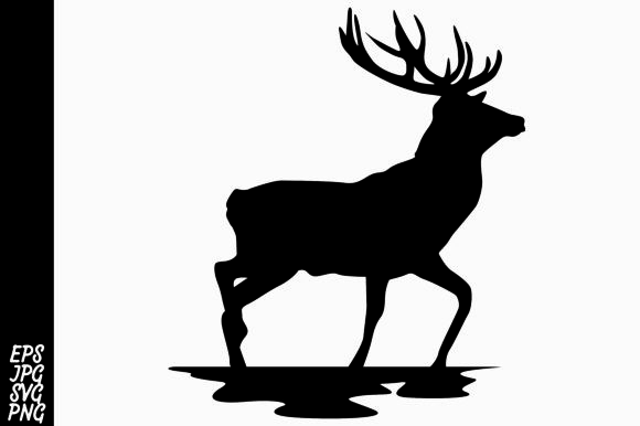 Download Free Deer Silhouette Svg Graphic By Arief Sapta Adjie Ii Creative for Cricut Explore, Silhouette and other cutting machines.