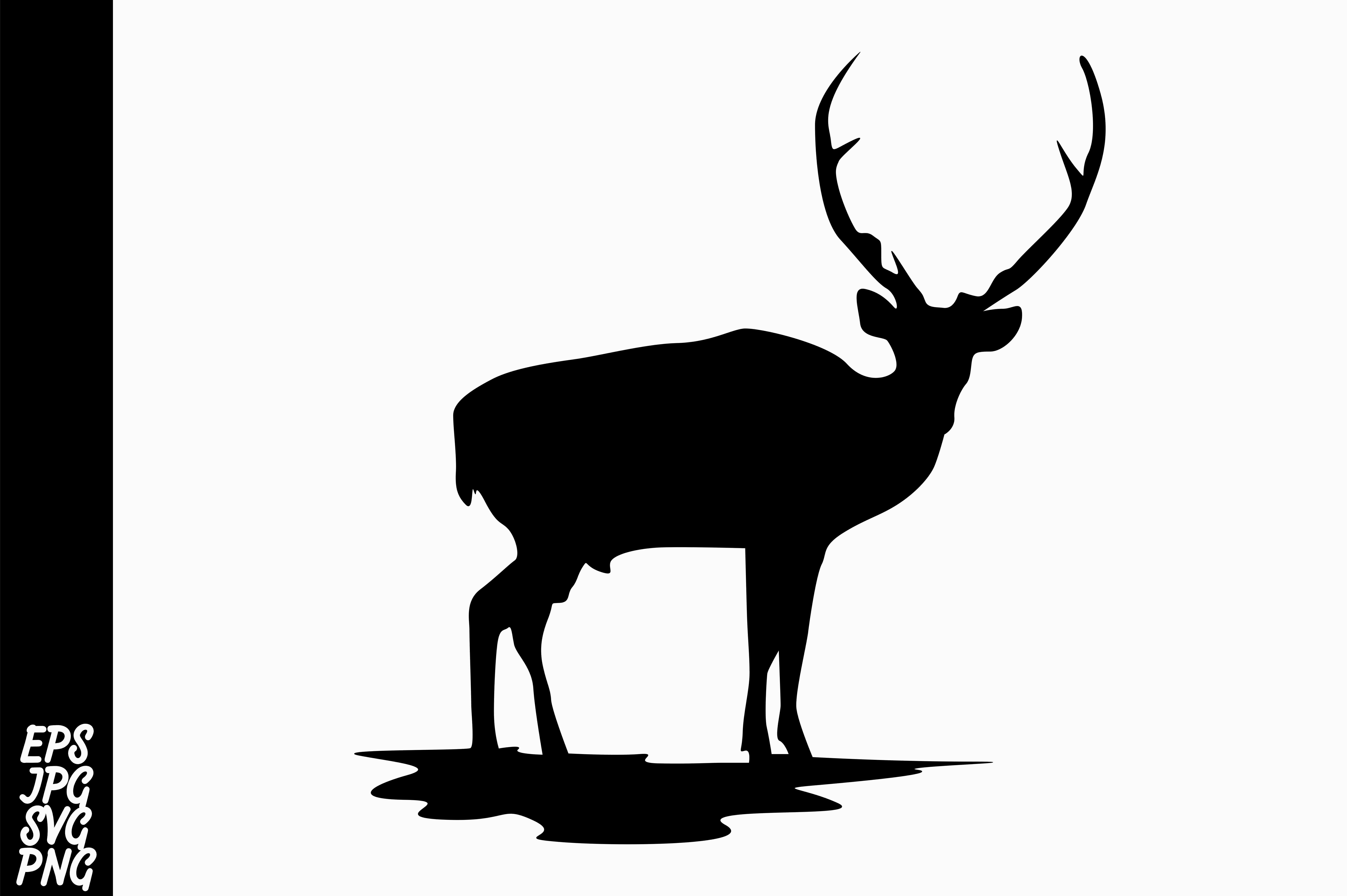 Download Free Deer Silhouette Svg Graphic By Arief Sapta Adjie Ii Creative SVG Cut Files