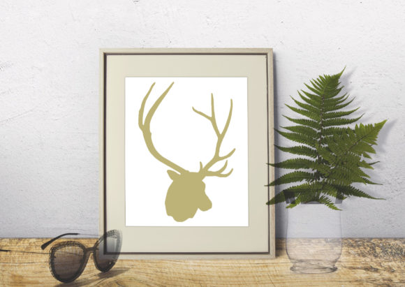 Deers and Antlers Clipart Set - Graphics Graphic Illustrations By Gleenart Graphic Design - Image 3