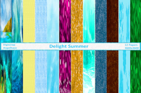 Print on Demand: Delight Summer Papers Graphic Backgrounds By Digiscrap Angelhaze
