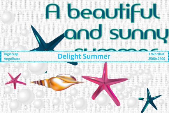 Delight Summer Wordart Graphic By Digiscrap Angelhaze