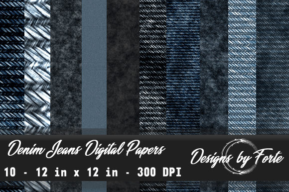 Print on Demand: Denim Jean Digital Papers Graphic Textures By Heidi Vargas-Smith