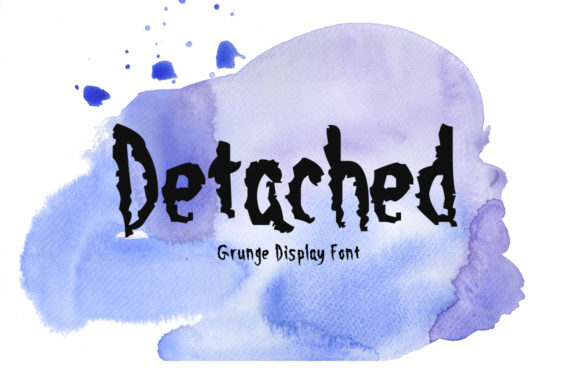 Print on Demand: Detached Display Font By Nuovo Tocco