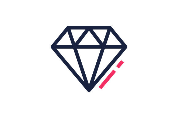 Download Free Diamond Icon Grafico Por Muhazdinata Creative Fabrica for Cricut Explore, Silhouette and other cutting machines.