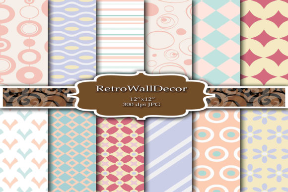 Digital Decoupage Papers Graphic By retrowalldecor