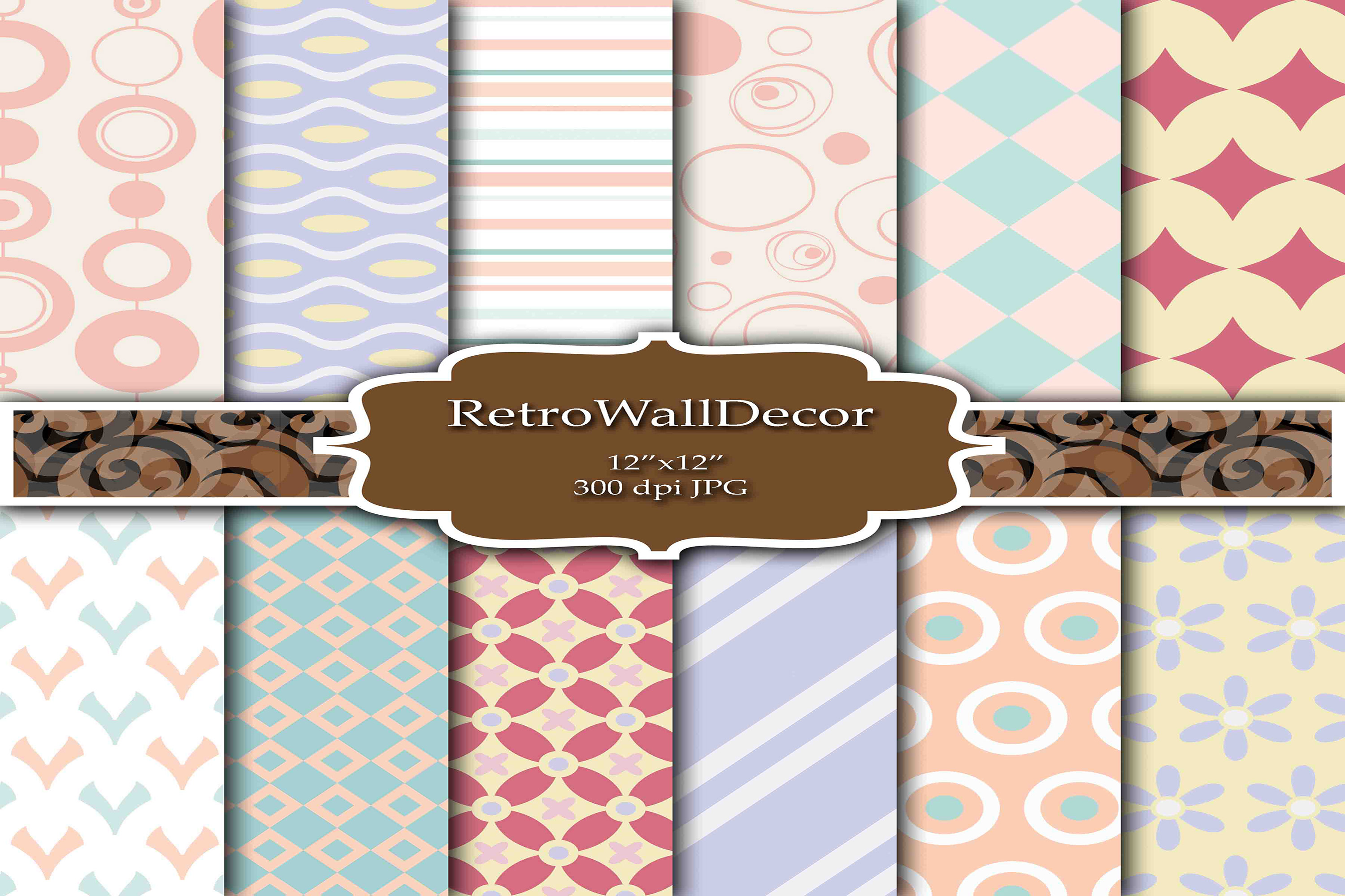 Download Free Digital Decoupage Papers Graphic By Retrowalldecor Creative for Cricut Explore, Silhouette and other cutting machines.