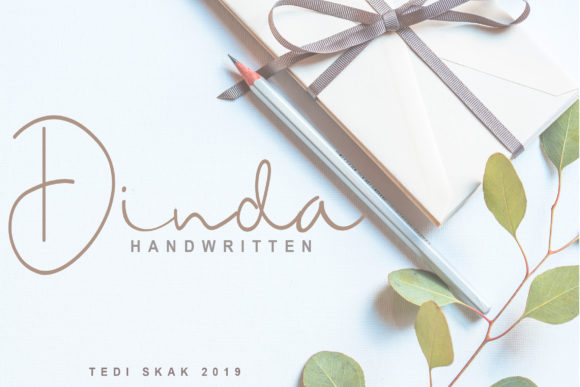 Print on Demand: Dinda Script & Handwritten Font By hai hai