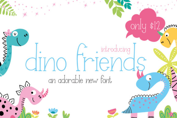 Print on Demand: Dino Friends Serif Font By Salt & Pepper Designs - Image 1