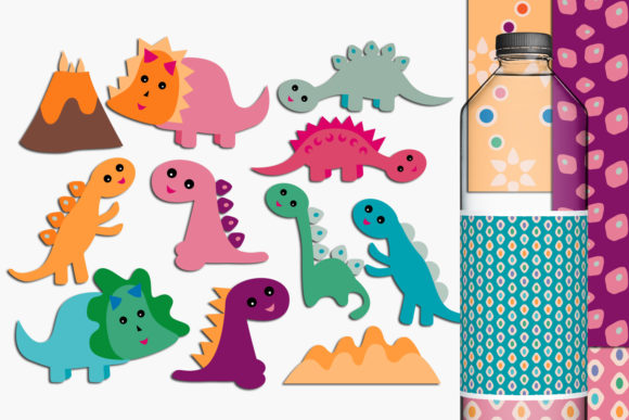 Print on Demand: Dinosaurs Graphic Illustrations By Revidevi