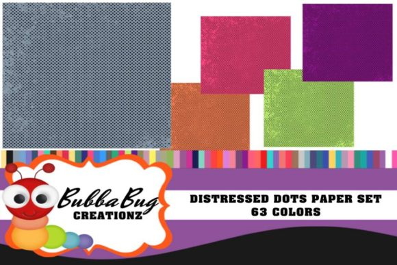 Distressed Dots Paper Set Graphic Patterns By BUBBABUG