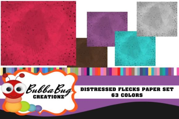 Distressed Flecks Paper Set Graphic Backgrounds By BUBBABUG