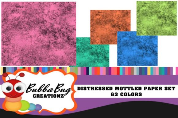 Distressed Mottled Paper Set Graphic Backgrounds By BUBBABUG