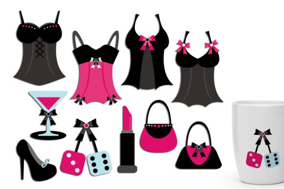 Print on Demand: Diva Fashion Lingerie Graphic Illustrations By Revidevi
