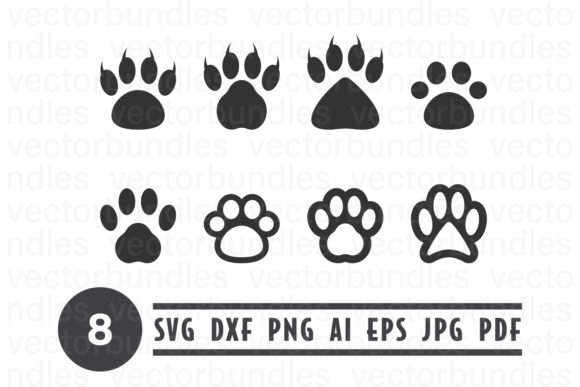 Download Free Dog Bear Paw Clip Art Svg Graphic By Vectorbundles Creative for Cricut Explore, Silhouette and other cutting machines.