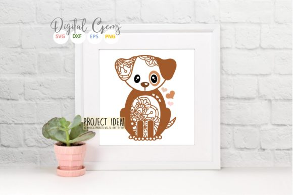 Dog Papercut Design Graphic Crafts By Digital Gems - Image 4