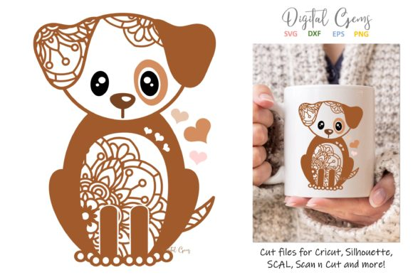 Dog Papercut Design Graphic Crafts By Digital Gems - Image 1