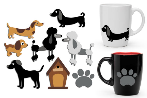 Print on Demand: Dogs Graphic Illustrations By Revidevi