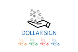 Download Free Dollar Donation Icon Graphic By Techno Aroma Creative Fabrica for Cricut Explore, Silhouette and other cutting machines.
