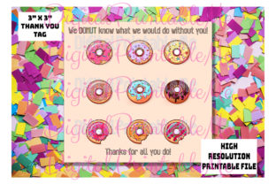 Donut Thank You Tags, Teacher Gift Tags Graphic By DigitalPrintableMe