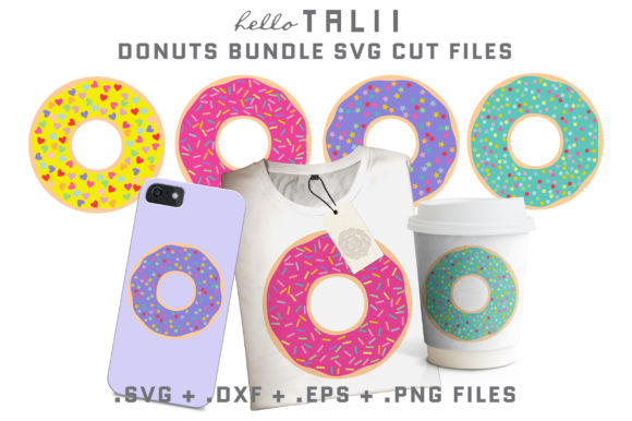 Download Free Donuts Cut Files Graphic By Hello Talii Creative Fabrica for Cricut Explore, Silhouette and other cutting machines.