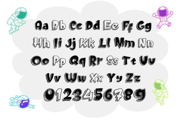 Print on Demand: Doodletoon Sans Serif Font By ZetDesign - Image 3