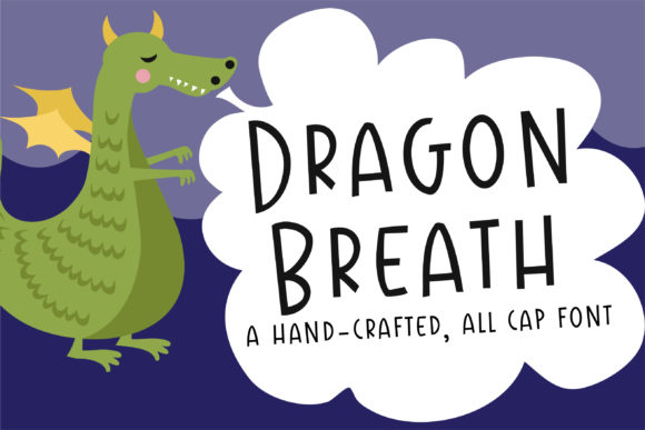 Print on Demand: Dragon Breath Script & Handwritten Font By Illustration Ink - Image 1