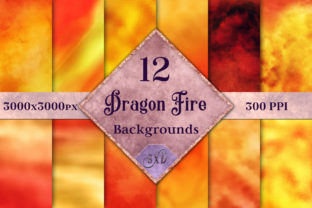 Dragon Fire Backgrounds 12 Images Graphic By SapphireXDesigns