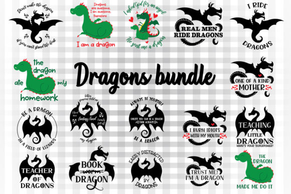 Dragon Sayings Graphic By Illustrator Guru