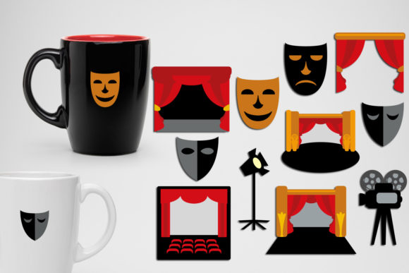 Print on Demand: Drama Theater Stage Graphic Illustrations By Revidevi