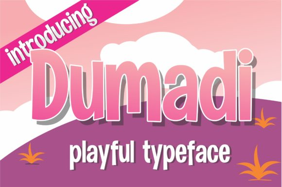 Print on Demand: Dumadi Display Font By DUMADI