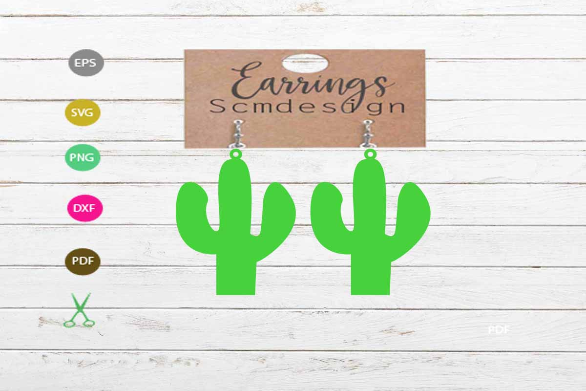 Download Free Earrings Graphic By Scmdesign Creative Fabrica for Cricut Explore, Silhouette and other cutting machines.
