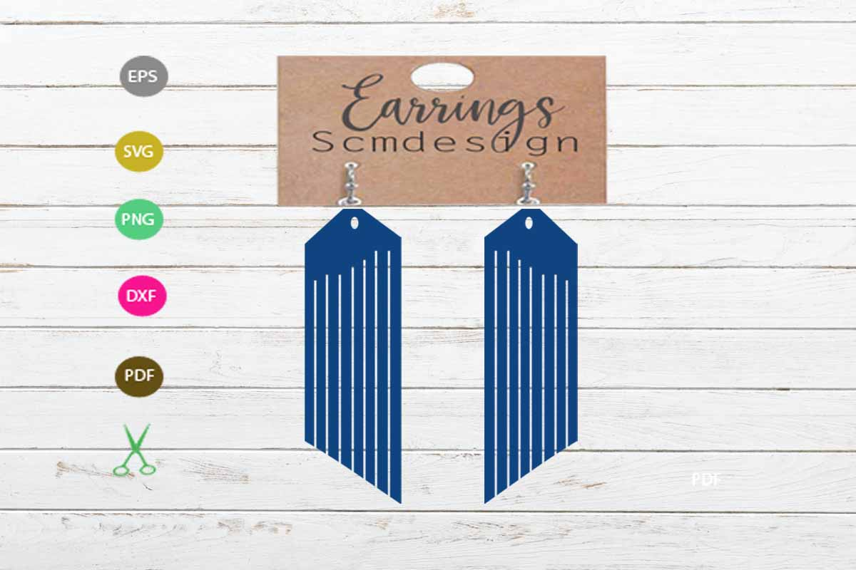 Download Free Earrings Svg Graphic By Scmdesign Creative Fabrica for Cricut Explore, Silhouette and other cutting machines.