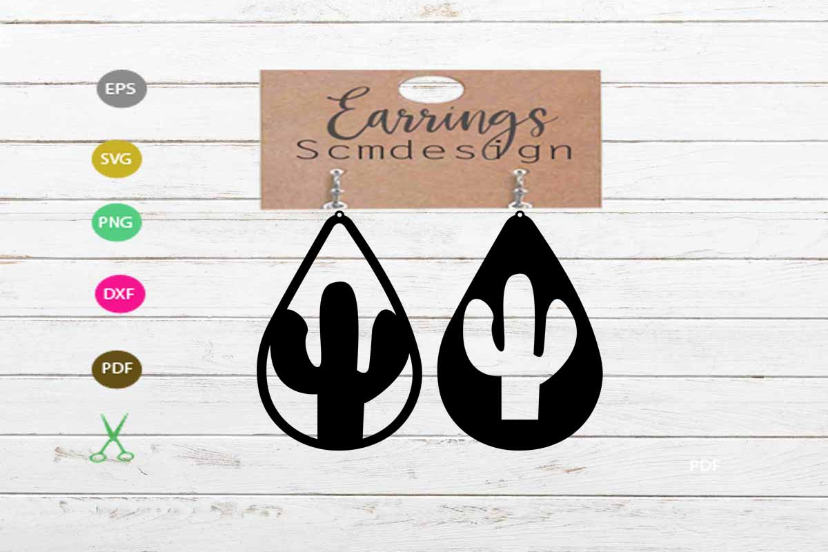 Download Free Earrings Craft Graphic By Scmdesign Creative Fabrica for Cricut Explore, Silhouette and other cutting machines.