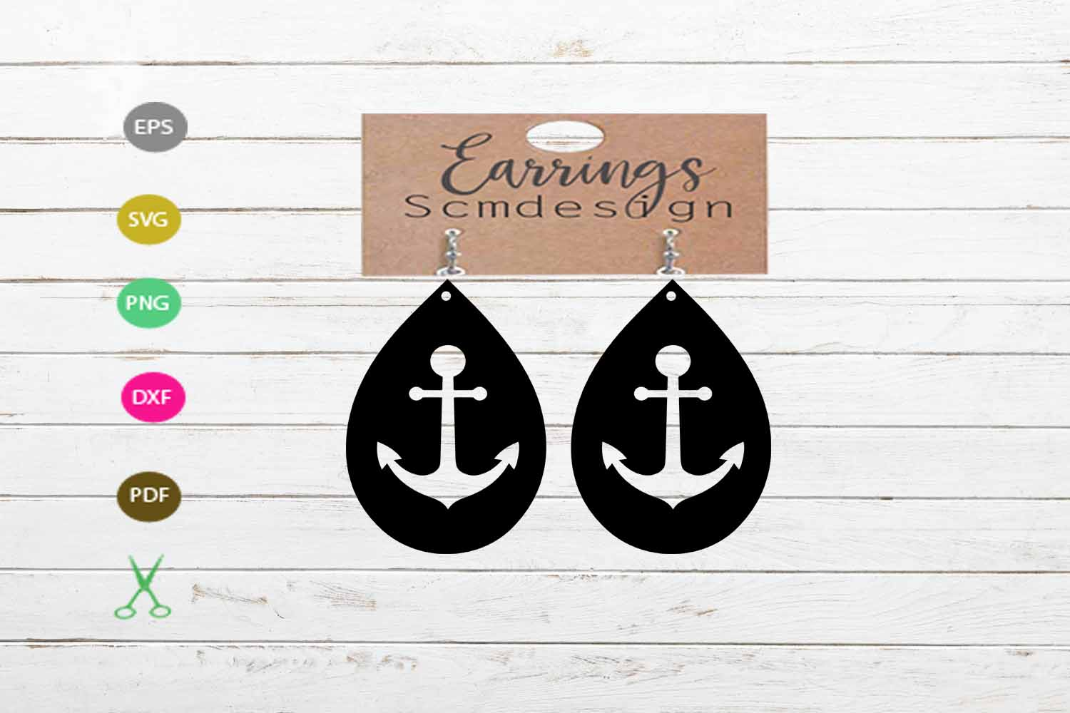 Download Free Earrings Template Anchor Graphic By Scmdesign Creative Fabrica for Cricut Explore, Silhouette and other cutting machines.