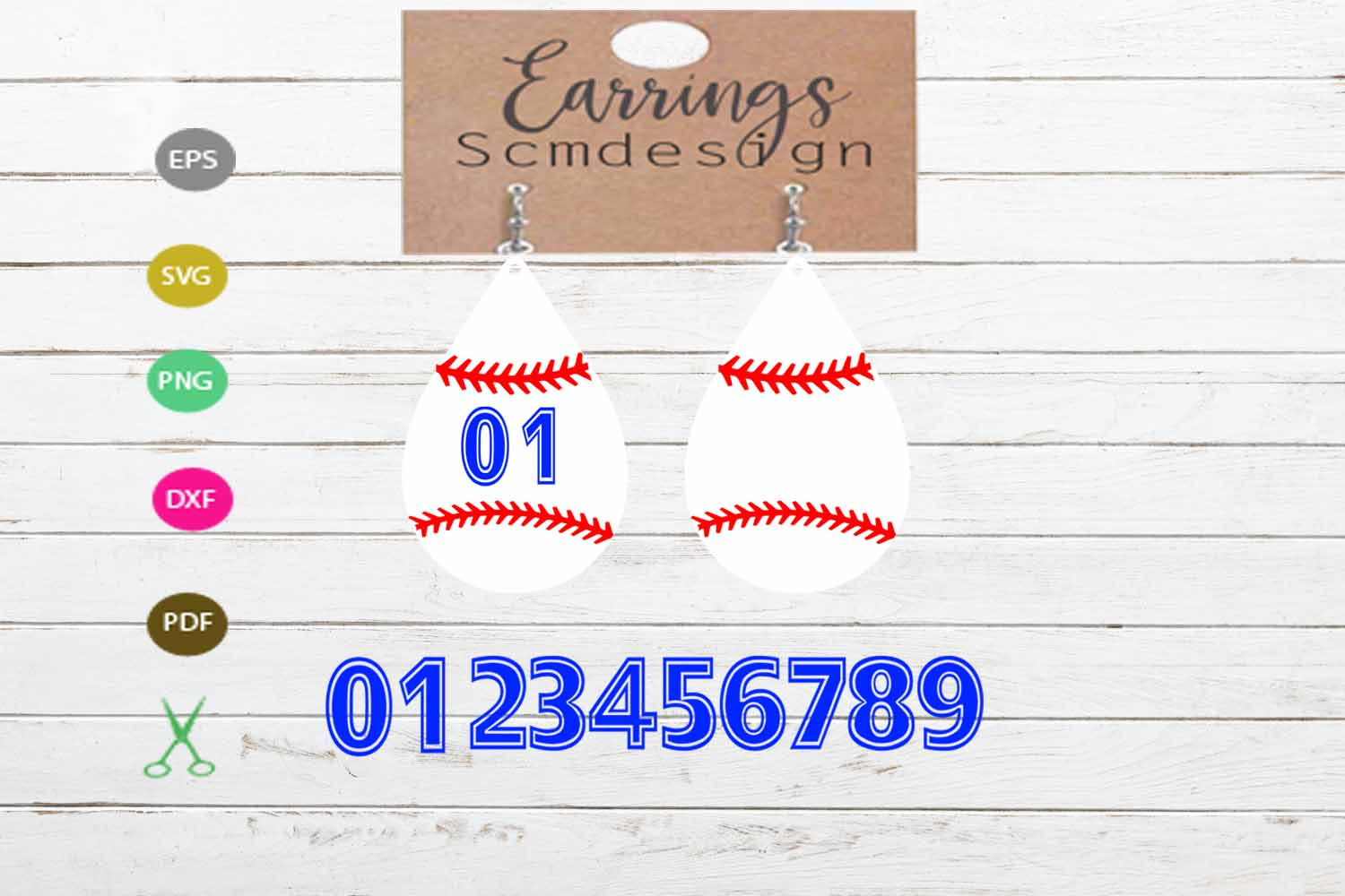 Download Free Earrings Svg Earrings Template Earrings Graphic By Scmdesign for Cricut Explore, Silhouette and other cutting machines.