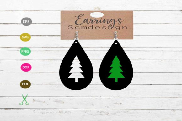 Download Free Tree Earrings Graphic By Scmdesign Creative Fabrica for Cricut Explore, Silhouette and other cutting machines.