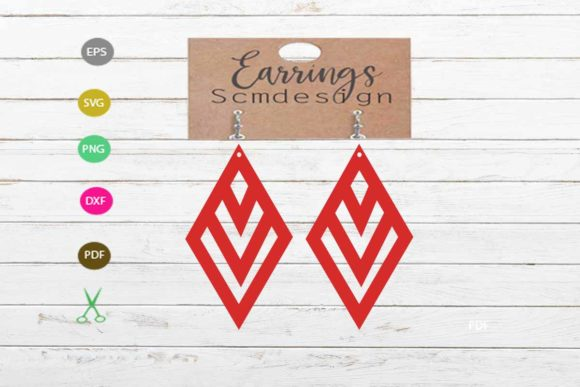 Earrings Svg,earrings Cut File Graphic Graphic Templates By Scmdesign