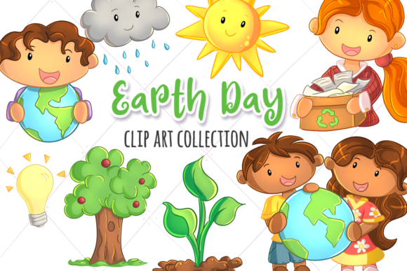 Print on Demand: Earth Day Graphic Illustrations By Keepinitkawaiidesign