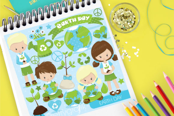 Print on Demand: Earth Day Graphic Illustrations By Prettygrafik