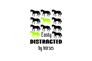 Easily Distracted by Horses Craft Design By Creative Fabrica Crafts